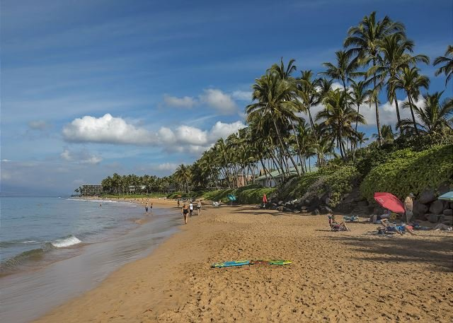 La playa de Ulua está a cinco minutos de Palms at Wailea
