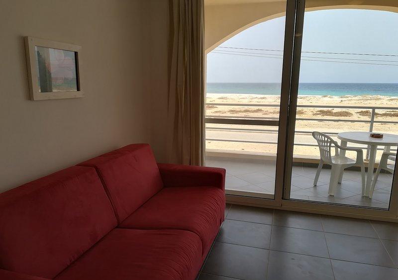 Apartment am Strand, Meerblick