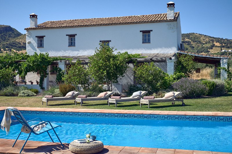 The finca sits in a verdant valley just 10 minutes from beautiful Ronda - and it's all yours.
