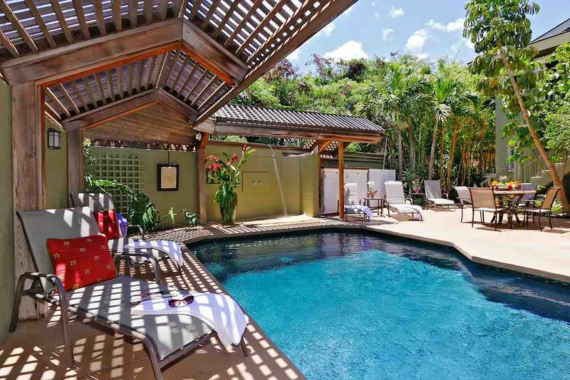 Pool area view
