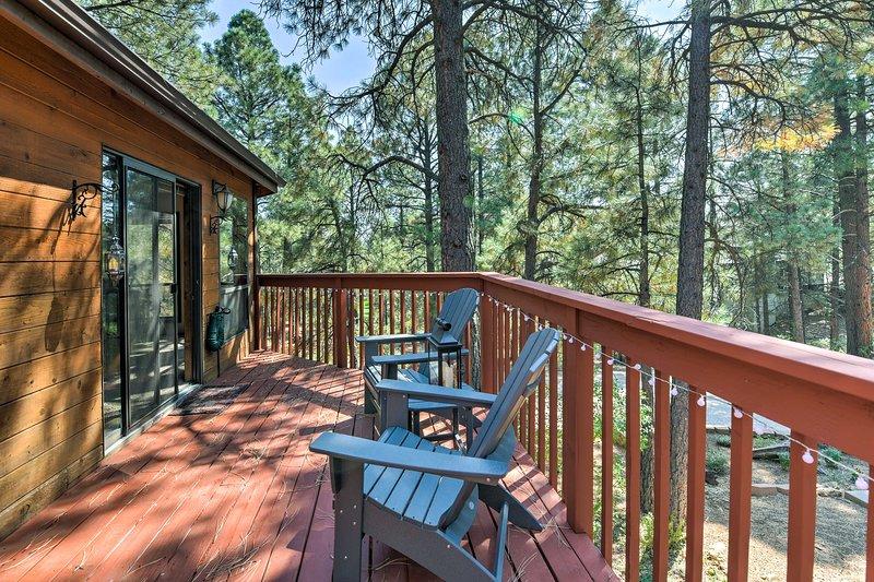 Questa residenza cittadina per 6 vanta una terrazza privata con una splendida vista sulla foresta.
