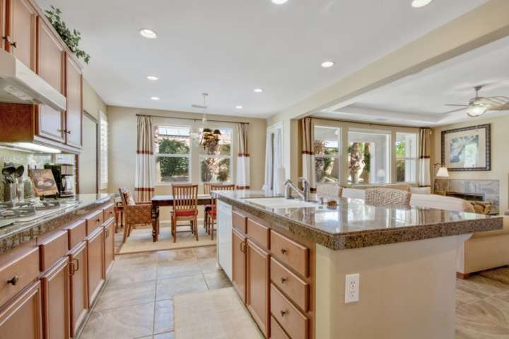 Spacious and open kitchen area