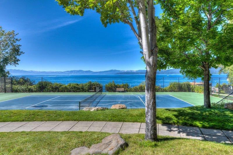 Vista de las canchas de tenis.