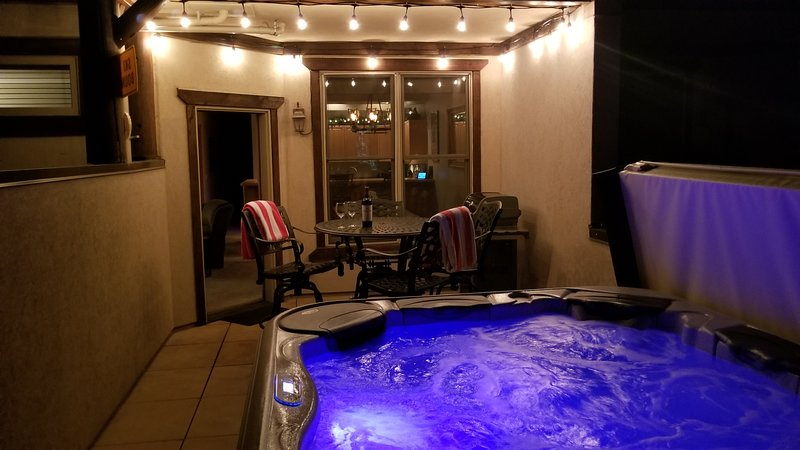 Bubble the night away in your Private 5 Person HotTub w/ Pulsating JetPakTherapy