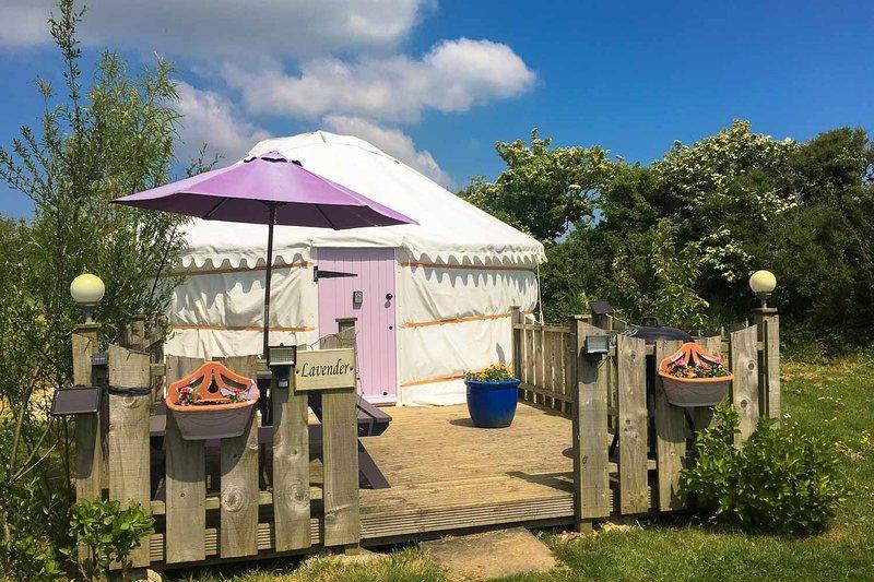 Lavender Yurt, aluguéis de temporada em Trispen