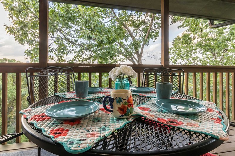 This Branson vacation rental condo provides a relaxing and serene environment.