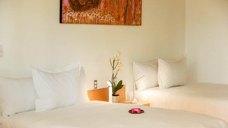 Double room with balcony and garden view. Agrado Guest House, alquiler de vacaciones en Zaachila
