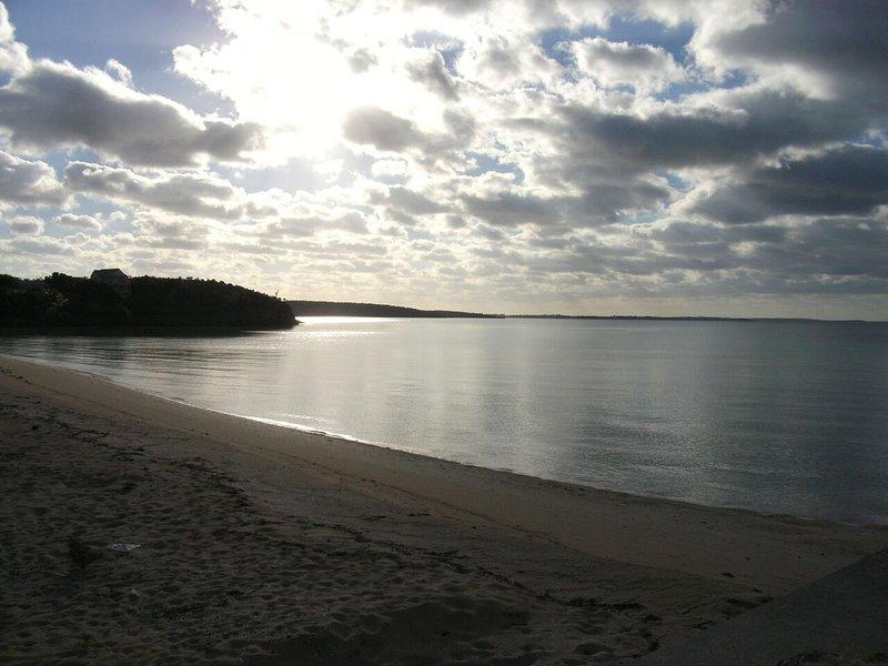 Nearby Seaside Beach (5-7 min walk away)