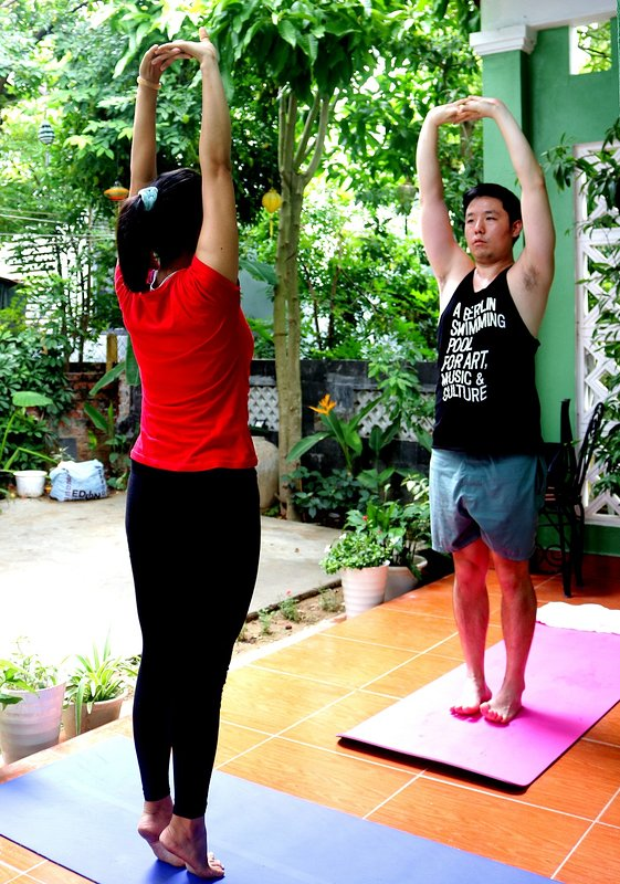 Continuing your Yoga on the Go at Jasmine Homestay with either professional VNese or Indian teacher