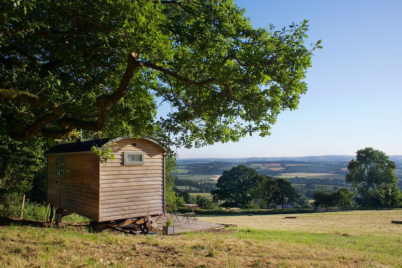 Romney Shepherd Hut, Hot Tub extra - Quantock Hills ANOB, location de vacances à Nether Stowey