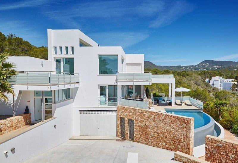 Vista de la villa
