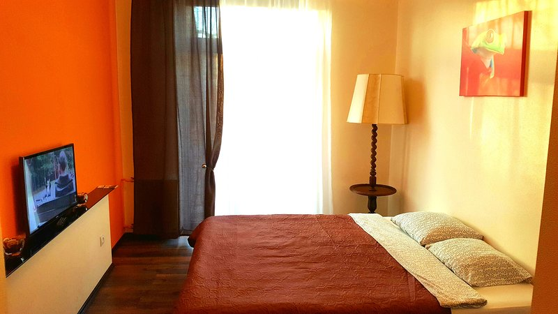 Orange double studio with balcony, holiday rental in Priekule