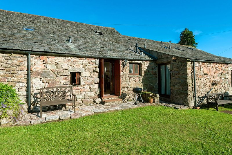 Hardknott Cottage bathed in sunlight