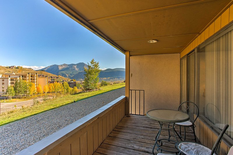 Enjoy immaculate views of Mt. Crested Butte from your private porch.