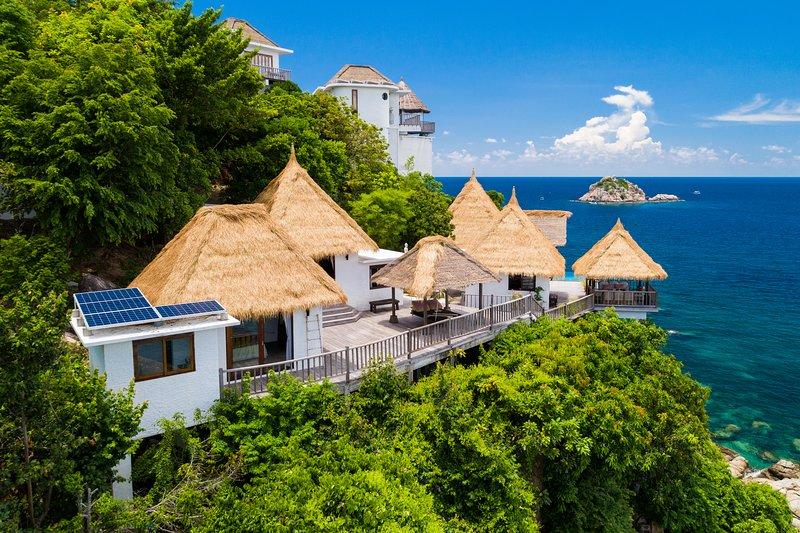 Holiday rental villa with private pool and 3 separeate bedrooms., aluguéis de temporada em Koh Tao