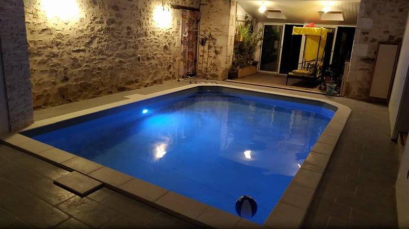 Chambre d'hôte Aquarium en Vendée avec Piscine Interieure, holiday rental in La Caillere-Saint-Hilaire