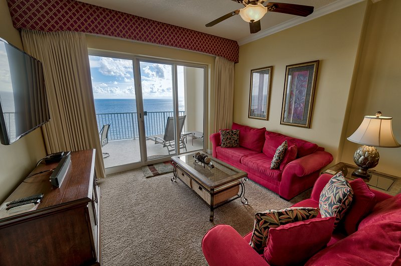 FREE BEACH RENTAL - NO HIDDEN FEES!!  5 STAR OCEAN FRONT CONDO ON 21ST FLOOR, holiday rental in Panama City Beach
