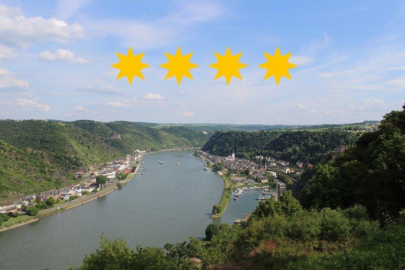 4 Sterne Ferienwohnung Rheinsteig Loreley, holiday rental in Patersberg