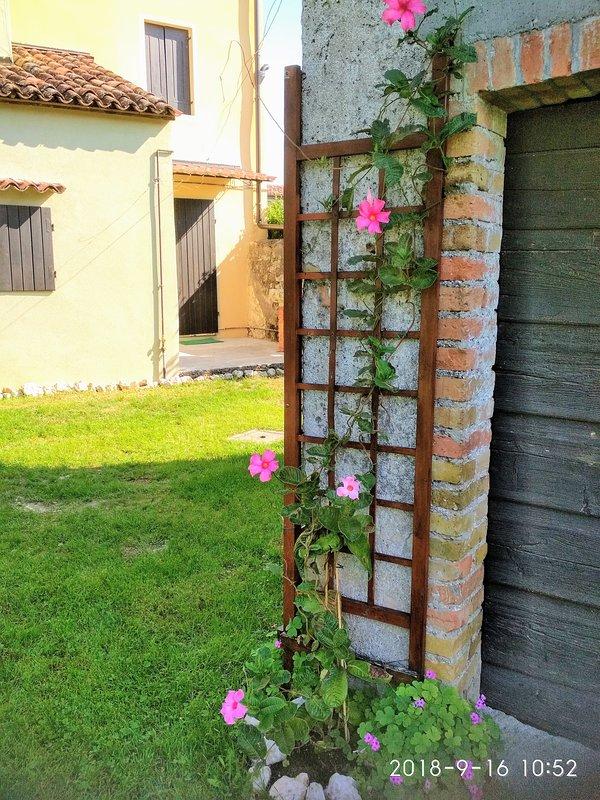 external corner of the barn