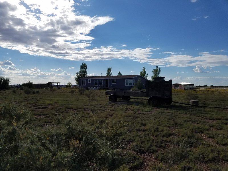 Oostkant van het huis
