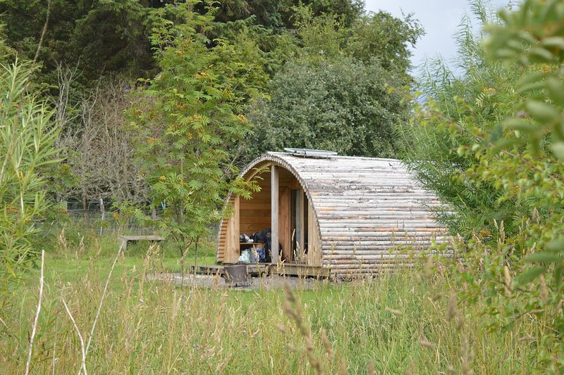 Our Howff is one huge space. Highly insulated with sheeps wool and solar powered.