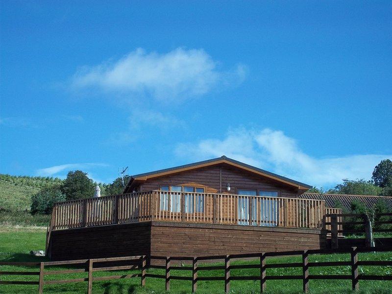 Woodpecker Lodge with Hot Tub near Cupar, Fife, casa vacanza a Luthrie