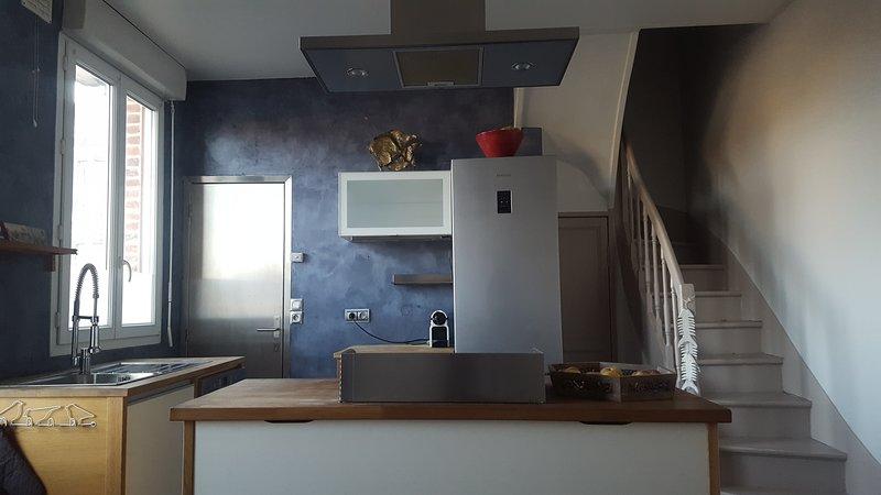 A cozinha no andar térreo