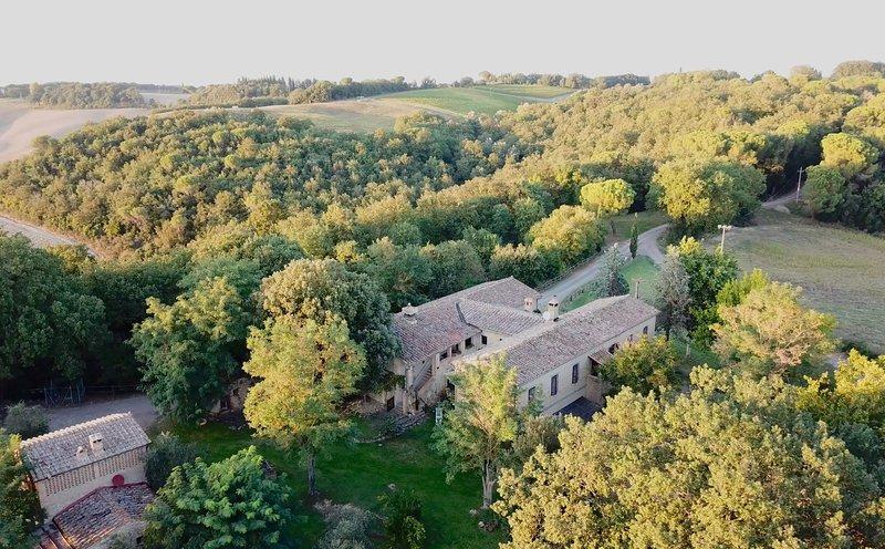 Aerial view of Borgo Castelrotto