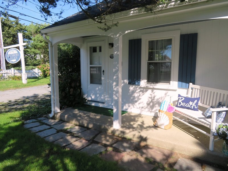 Welcome to Could 9! Front condo unit with private porch at Wychmere Village - 767 Route 28 #9 Harwich Port Cape Cod New England Vacation Rentals