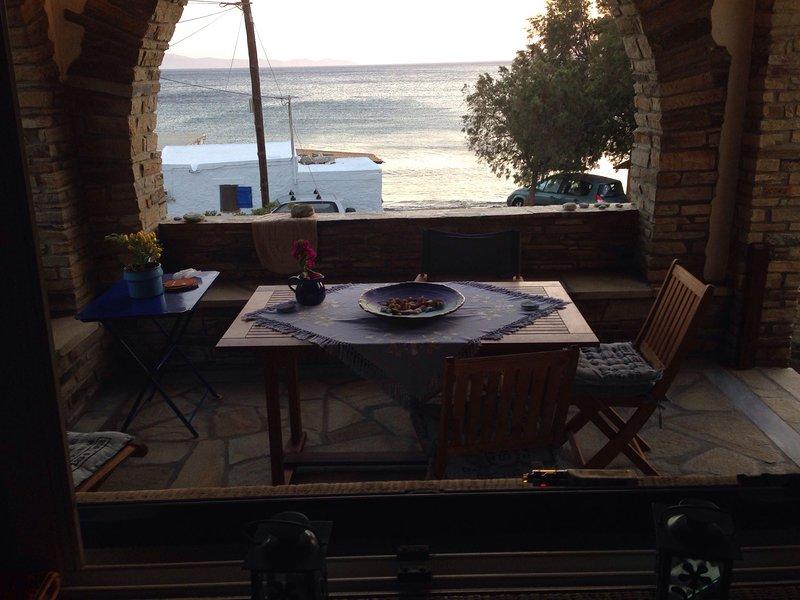 a varanda e vista para o mar