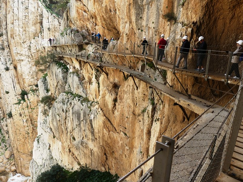 Walking the Camino del Rey Gorge
