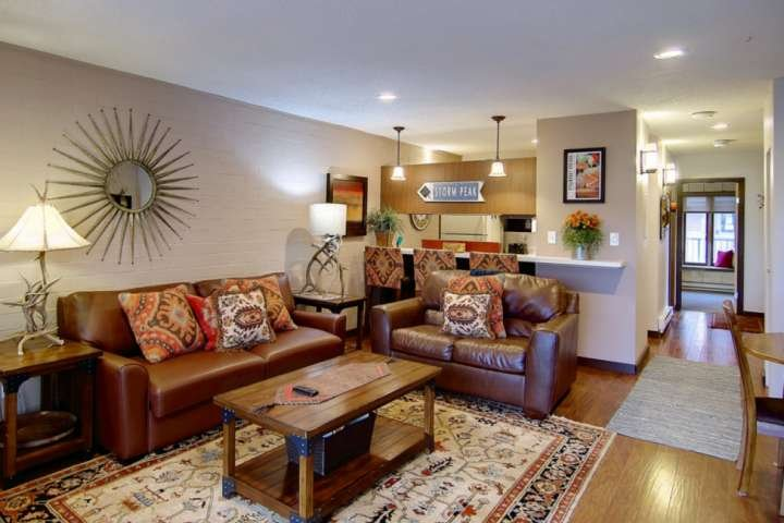 Have your family and friends hang out in the living room after a long day.