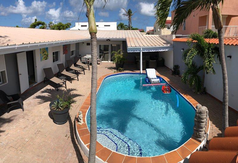 Spacious villa with swimming-pool, holiday rental in Maho