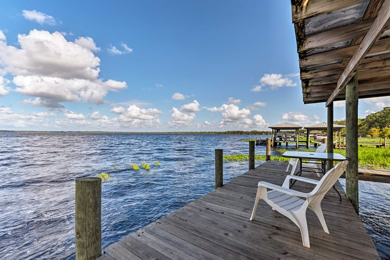 Fish from the dock and partake in endless lake activities during your stay.