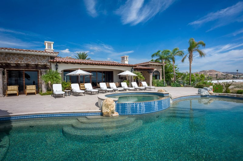 Take a swim in Villa Fuego y Agua's expansive pool!