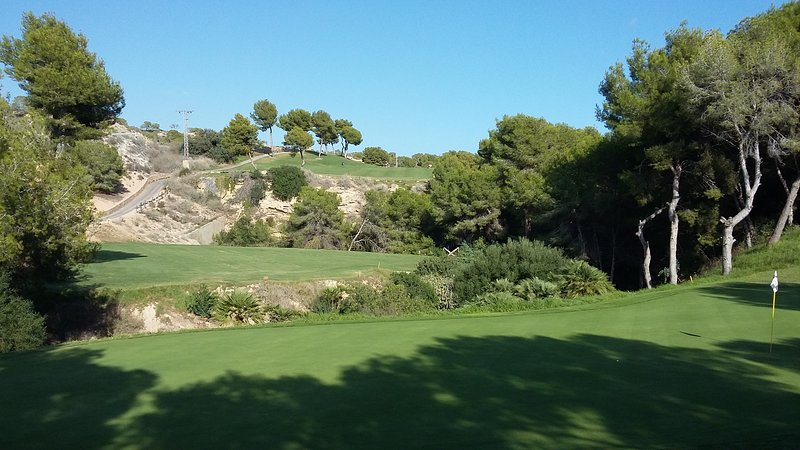 View from 4th green on Las Ramblas looking back up the fairways..beautiful golf hole.