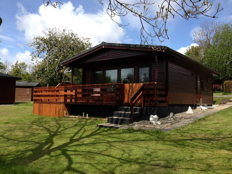 Bluebell Lodge 4 with Hot Tub, Newton Stewart, holiday rental in Creetown