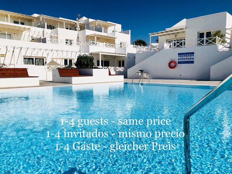Apartment Mariposa mit Pool, Smart-TV & Wifi, nur 200m vom Playa Concha, holiday rental in Playa Honda