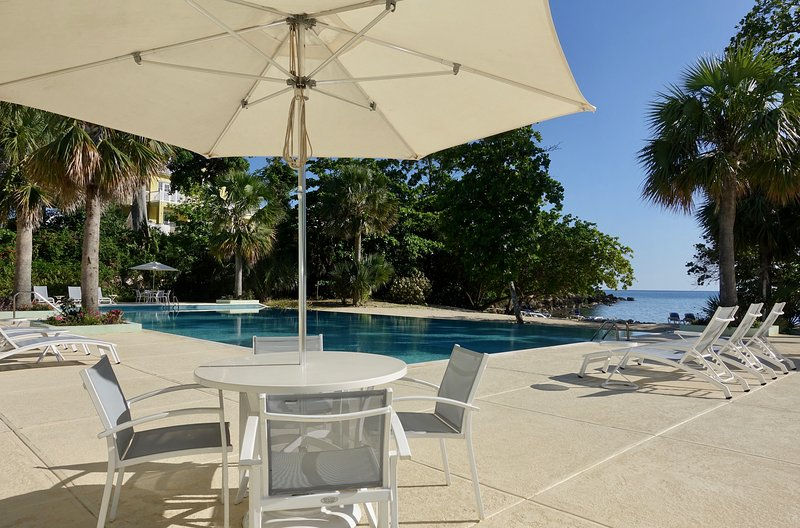 Relax at the Stunning Infinity Pool or Swim in the Beautiful and blue Caribbean Sea.