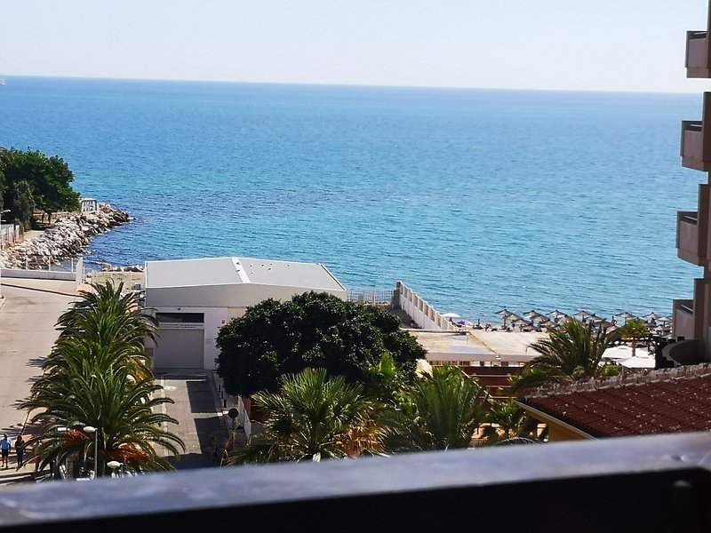 Wide sea views from the sunny terrace