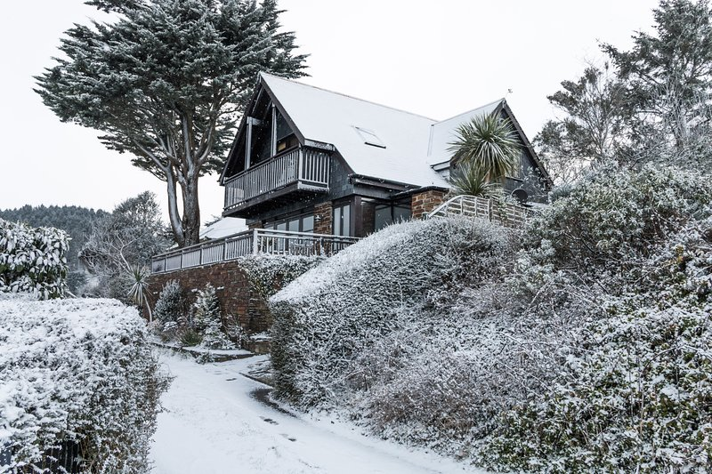 Photo of Treglisson in the snow 2017. Will it be a white Christmas this year?