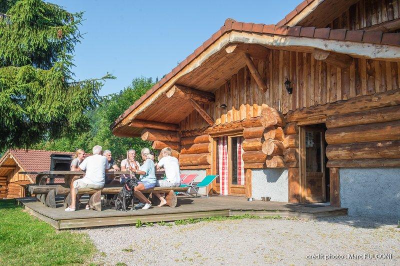 916. Magnifique chalet rondins 14/16p, 220m², 6ch, holiday rental in Wildenstein