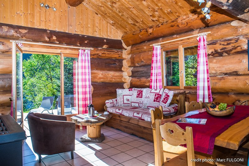 5. Superbe chalet rondins 4/6 p, 2 ch, 65m², calm, vacation rental in La Bresse