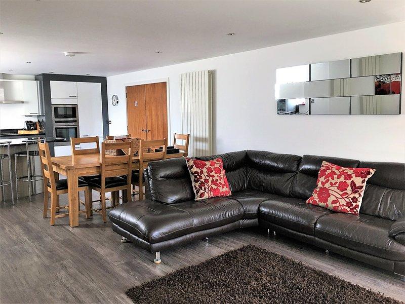 Spacious open plan living room