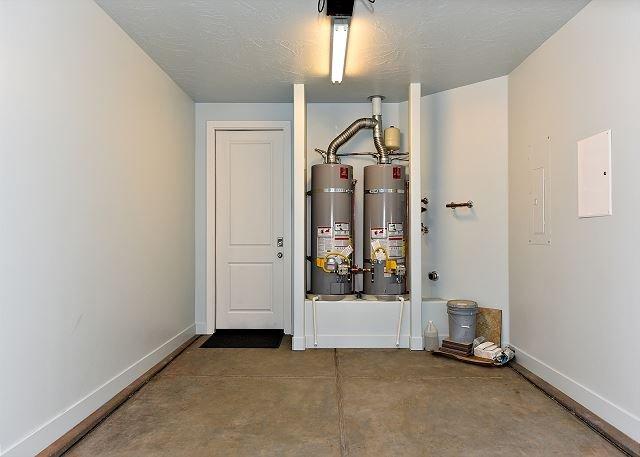 Garage w/ 2 Water Heaters
