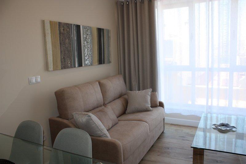 Vista del sofá cama de 190 X 140