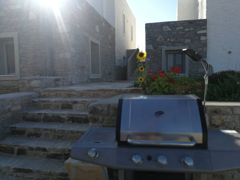 A gas BBQs is available