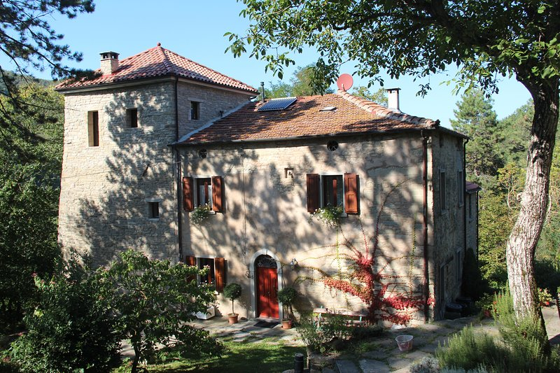 Porcaticcio, tower-house in the woods with pool (Bologna, Ravenna, Florence), holiday rental in Province of Ravenna