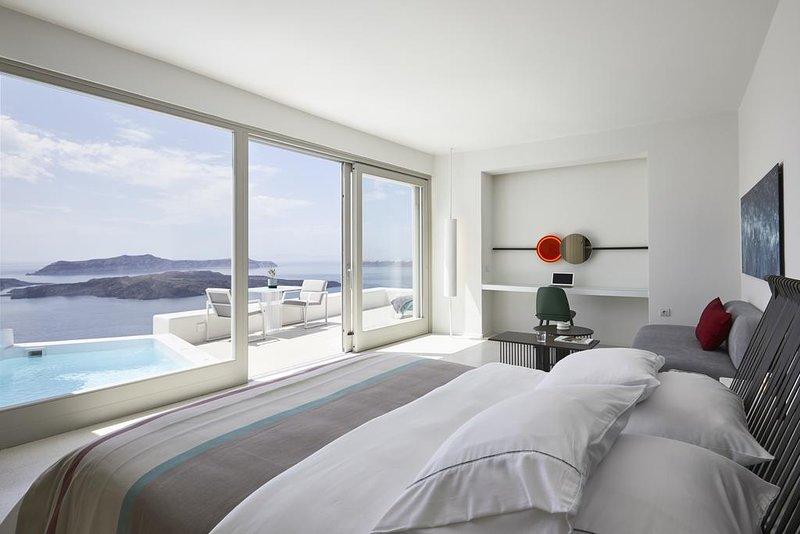 Alti Santorini Suites (Delight Suite with Sea View), location de vacances à Megalochori