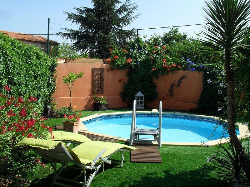 location saisonnière villa avec piscine classée 4*, holiday rental in Lignan-sur-Orb